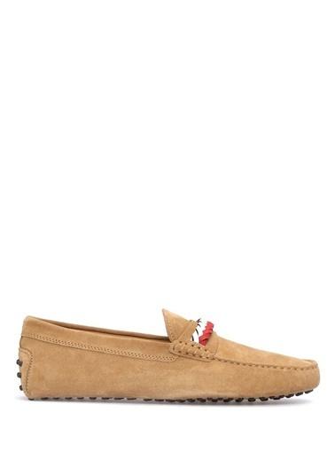 Tod's %100 Deri Loafer Ayakkabı Bej